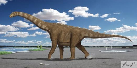 El 'Lohuecotitan', un gigante del Cretácico nacido en Cuenca.