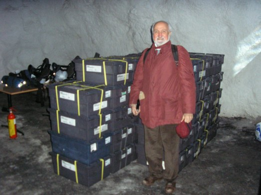 José Esquinas, en la inauguración del Banco Mundial de Semillas en Svalbard.