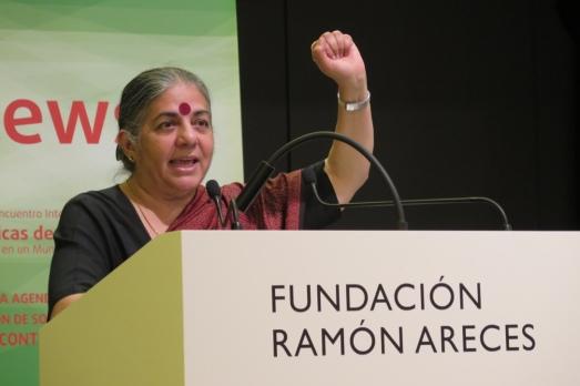 Vandana Shiva, en Madrid. @ROSATRISTÁN