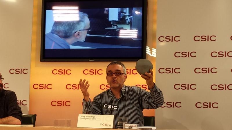 Josep María Trigo, en la rueda de prensa @ROSA M. TRISTÁN