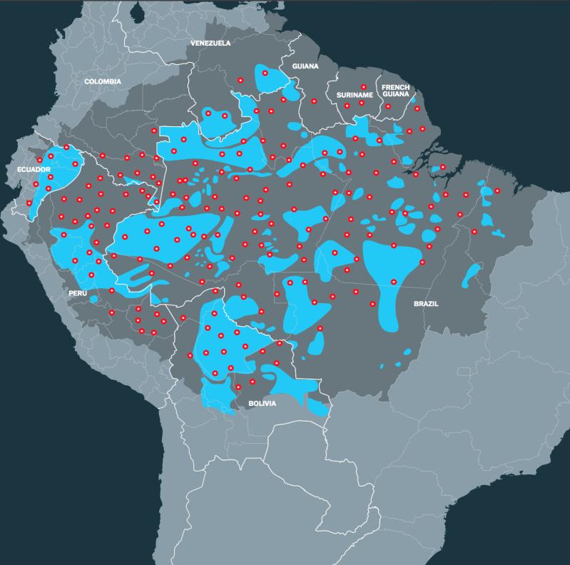 Mapa de la cuencia donde se ve los lugares con y sin covertura de ayudas durante la pandemia.